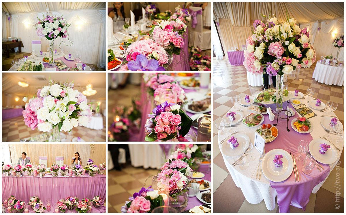 Украшаем цветами свадебный стол своими руками